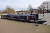 The Artful Dodger canal boat operating out of Foxton
