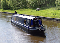 The Athena canal boat operating out of Skipton