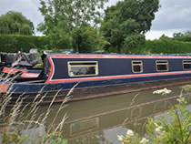 The Titania II canal boat operating out of Gayton