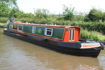 The Little Bunting canal boat operating out of Aldermaston