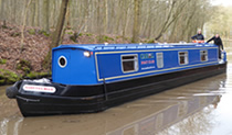 The Everetts Blue 2 canal boat operating out of Gayton