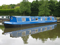 The Jobi Red canal boat operating out of Hilperton