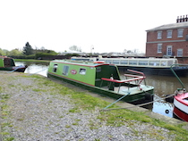 The Angela canal boat operating out of Stone