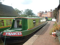 The Frances canal boat operating out of Stone