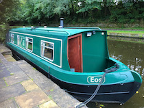 The Eos canal boat operating out of Skipton
