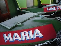 The Maria canal boat operating out of Stone