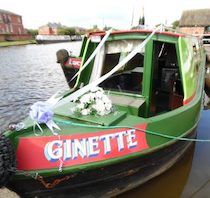 The Ginette canal boat operating out of Stone