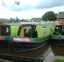 The Patricia canal boat operating out of Stone