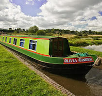 The Olivia canal boat operating out of Stone
