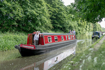 The Dawn Chorus canal boat operating out of Glascote Basin