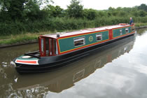The Night Heron canal boat operating out of Whitchurch