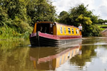The Ragnar canal boat operating out of Whitchurch