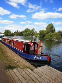 The Gina canal boat operating out of Caversham