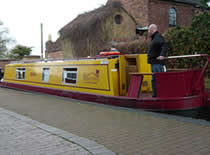 The Bragi  canal boat operating out of Gailey