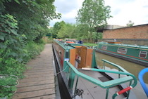 The Norton Priory canal boat operating out of Bollington