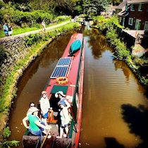 The Raki Raki canal boat operating out of Middlewich