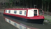 The Red Collared Swallow canal boat operating out of Goytre