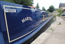 The Martha canal boat operating out of Bradford-on-Avon
