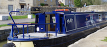 The May canal boat operating out of Bradford-on-Avon