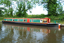 The Trumpeter Swan canal boat operating out of Aldermaston