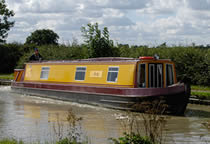 The Bryn canal boat operating out of Rugby