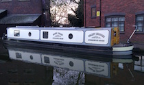 The Hope Valley canal boat operating out of Coventry