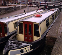 The Tamar Valley canal boat operating out of Stratford-upon-Avon