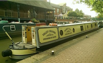 The Thames Valley canal boat operating out of Coventry