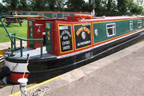 The Brown Weaver canal boat operating out of Alvechurch