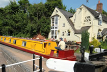 The Cedrik canal boat operating out of Whitchurch