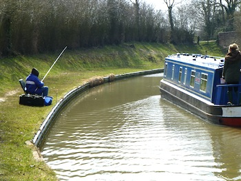 Fishing on a canal boat holiday