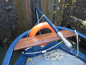 Canal Boat in a lock