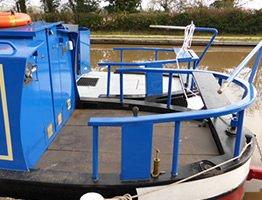 A cruiser stern canal boat