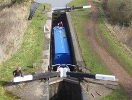 Locks on a canal