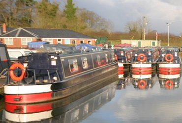 Blackwater Meadow Marina. A UK Canal Boating Location