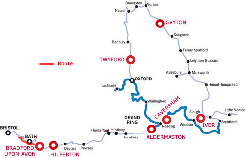 Bath and the River Avon to Saltford from Bradford on Avon