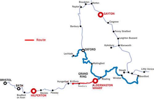 Kintbury and return from Aldermaston