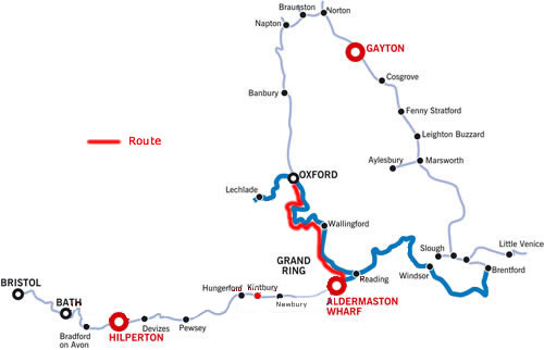 Oxford and return along the Thames from Aldermaston