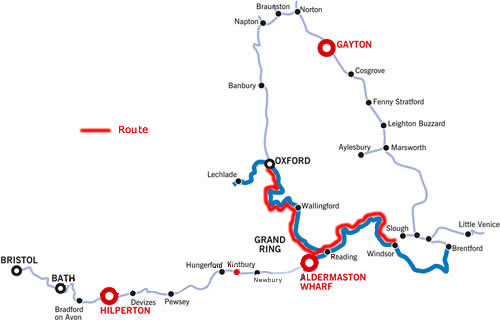 Windsor and Oxford and return from Aldermaston